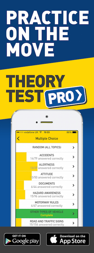 Theory Test Pro in partnership with www.abdrive.co.uk